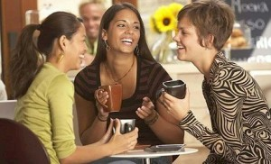Group of Woman Drinking Coffee